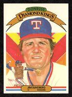 1983 Donruss Diamond Kings #7 Jim Sundberg Texas Rangers Baseball Card NM/MT