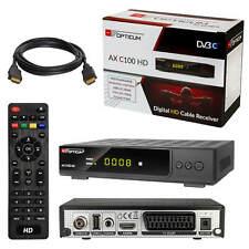 Digital Kabel TV Receiver Kabelreceiver DVB-C HDTV Opticum C100 SCART USB + HDMI