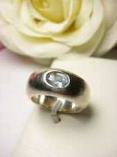 Fingerring Aquamarin Ring 2 Stempel breit 9 mm Schmuck 925 Silber 14,5 g