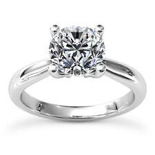 1.25 Carat Round Cut Diamond Ring Solitaire Engagement 14k White Gold I/VVS2