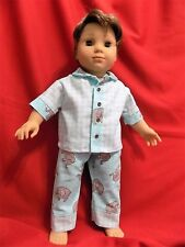 "Hand made 18"" American girl/ Boy Logan doll Pj's"
