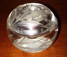 Pilulier en Cristal de Roche Sculpté Fleur ART NOUVEAU et Insectes.Chine
