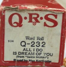 More details for qrs pianola word roll: all i do is dream of you