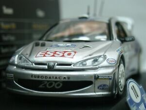 WOW EXTREMELY RARE Peugeot 206 WRC Gronholm 1st Finland 2000 1:43 Vitesse-Spark
