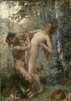 Henri Gervex Satyr and Baccante Poster Reproduction Giclee Canvas Print
