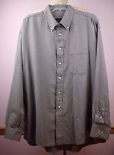 Burberry London Navy White Small Check Cotton Men's Dress Shirt #63620 Size XXL