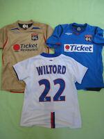 Lot 3 Maillot Olympique Lyonnais OL Lyon Wiltord + Benzema Enfant - 12 ans