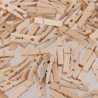 Wäscheklammern Holz Bastelklammern Dekoklammern 25x3mm, 100 Stück