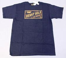 Benny Gold Men's Short Sleeve Classic Stamp Logo Tee CS9 Navy Medium