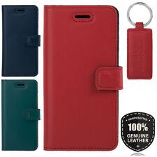 SURAZO® Echtes Ledertasche Schutzhülle Handyhülle Flip Wallet Case Etui Cover
