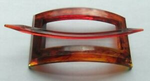 Early-Mark GOODY USA-Marbled Faux Tortoise Acrylic-Window Pony Tail Holder Stick