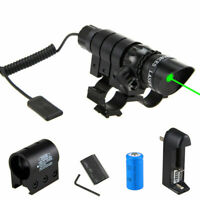 Green/Red Dot Laser Sight Hunting Aiming Lazer Sight Battery 20mm Weaver Rail L