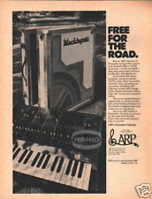 ARP ODYSSEY SYNTHESIZER AD vtg 70's pinup anvil case ad
