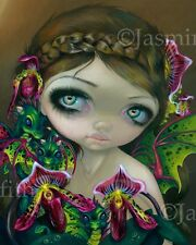 Jasmine Becket-Griffith flower dragonling fairy art print SIGNED Dragon Orchid