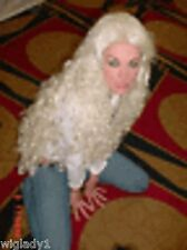 Sin City Wigs Extra Long Curly White Platinum Blonde Sexy Thick Full Drag Queen