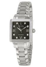 Bulova Accutron 63R104 Diamonds Black Dial Masella Silver Tone Womens Watch $950
