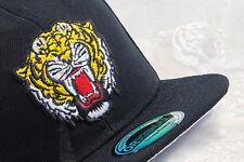 Snapback Cappy Cap Kappe Kinder Basecap Kids Junge schwarz Tier Tiger Wild NEU