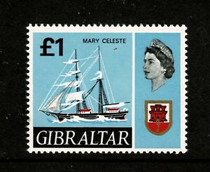 W0160 GIBRALTAR 1967 New daily stamps - ships £ 1 Mary Celeste  MNH