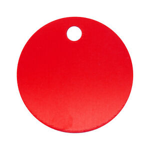 10pcs Metal Round Dog Tag Identify Name ID Pet Collar Charm Personalise DIY 3cm