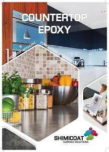 Countertop Benchtop Epoxy Metallic Marble Finish Complete Kit 5sqm Easy DIY