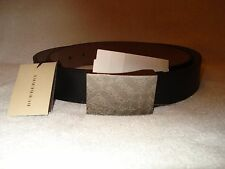 100% AUTHENTIC NEW MEN BURBERRY PLAQUE CHECK BUCKLE BELT US 38/95