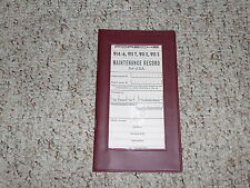 1970 Porsche 914 911T 911E 911S 911 T E S Owner Manual Maintenance Record Targa