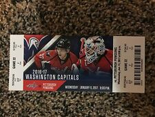 2017 WASHINGTON CAPITALS VS PENGUINS TICKET STUB ALEX OVECHKIN POINT #1,000 1/11