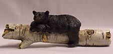 Black Bear On Birch Log Drawer Handle Pull Home Cabin Lodge Decor (EAJ)