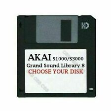 Akai S1000 / S3000 Floppy Disk Grand Sound Library 8 Choose Your Disk