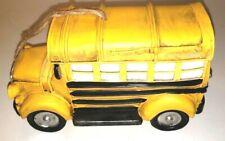 Birdhouse School Bus Yellow Replica Home Garden Resin Decor Rubber Stopper New