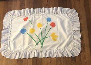 Marimekko RARE VINTAGE Tulip KING SIZE PILLOW SHAM Flower Bouquet 70s Dan River