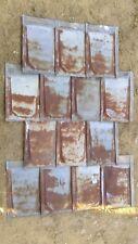Rustic Vintage 26 Gauge Metal Roof Shakes (lot of 15 pieces)