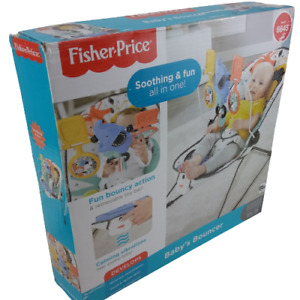 Fisher-Price Soothing & Fun All-in-One Baby's Bouncer Black/White 03223