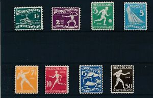 [31342] Netherlands 1928 Olympic Good set VF MH/30c Mint no gum stamps