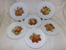 Hutschenreuther LUCINA 6 Salad Dessert Plates w/ Fruits / Nuts Center Design