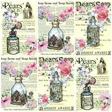 12 Vintage Perfume Embellishments, Card Making Toppers, Card Toppers