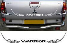 Mitsubishi L200 Warrior Barbarian tribal rear decal sticker graphic