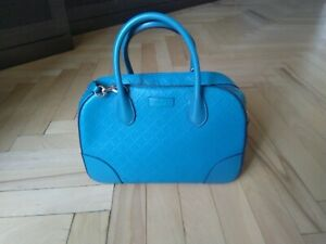 100% Authentic GUCCI Bright Diamante Top Handle Bag Turquoise colour Small size