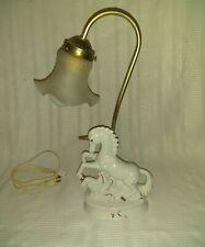 Vintage Unicorn Porcelain Lamp Very Rare Unique Lamp