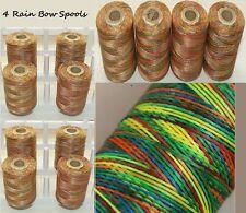 New 4 x  Rainbow Colour Extra Strong Best Quality Nylon Thread Large Spools UK