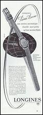 Publicité Montre LONGINES Prima Donna  Watch photo vintage print ad  1950  - 4h