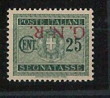 ITALIA RSI - Sass BRESCIA 50/Ia  nuovo non linguellato ** SOPRASTAMPA ROVESCIATA