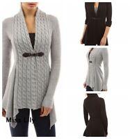 Womens Knitwear Coat chunky Long Sleeve Slim Baggy Oversized Cardigan Sweater
