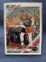 Russell Westbrook 2019-20 Panini Donruss Optic WHITE SPARKLE Prizm Refractor #58