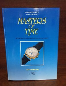 Vintage Book Wrist Watches Masters of Time Collana ore d'oro Collectible