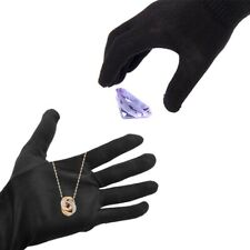 1 Pair Inspection Work Gloves Jewelry Protection Soft Blend Cotton Black Cxz