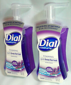 2 Foaming Hand Soap Fresh Lavender Dial 7.5 FL OZ Wash Away Germs & Bacteria New