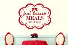 Fresh Homemade Meals Served Daily Vinilo Pegatinas De Pared Adhesivo Decoración