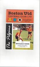 Boston United v Matlock Town Football Programme 1994/95