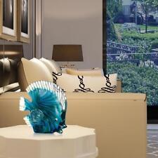 Art  Christmas present Blue Tropical Fish Glass Sculpture Home Glass Fish S8P5